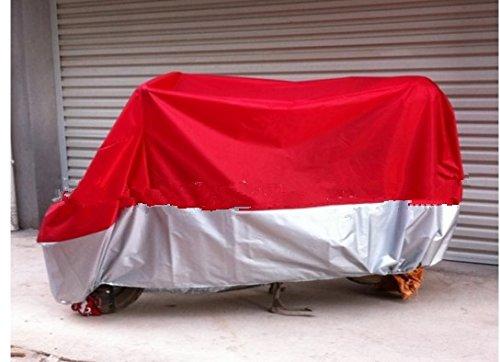 Talla XL Moto Garaje Ganz Garaje Lona lona plegable Agua Garage erdicht Rojo & Plata Con Funda 245* 105* 125cm impermeable y Winterfest