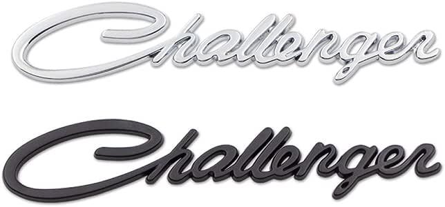 per Dodge Challenger Decorazione per Accessori Autoadesivo per Esterni Auto XHULIWQ Emblema di Cromo per Decalcomania per Badge in Metallo 3D per Auto