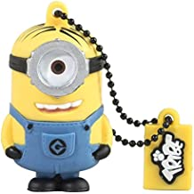 Tribe Los Minions Despicable Me Stuart - Memoria USB 2.0 de 8 GB Pendrive Flash Drive de goma con llavero, color amarillo