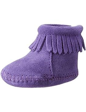 Minnetonka Velcro Back Flap Baby Mädchen Krabbelschuhe