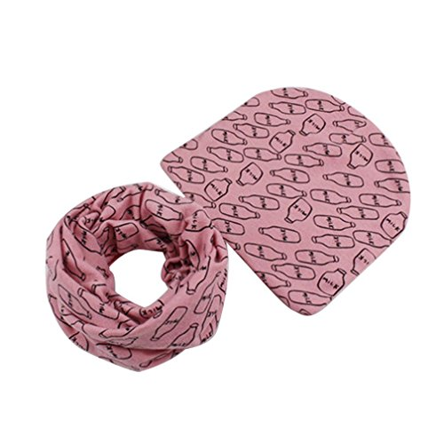 3787c3fa5e6 FALAIDUO Infant Baby Winter Cotton Hat Scarf Set Camouflage for 1-5 Years  (D Pink)