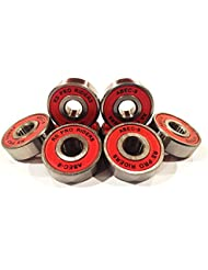 8x rojo Abec 9608(8x 22x 7mm) RS PRO RIDERS rodamientos para monopatín Skate Scooter