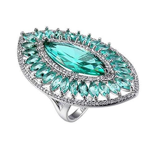 n Herrliche glänzende Gems Huge Silber Woman Ring-Größe 6-10 (7) ()