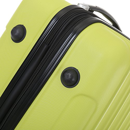 Zwillingsrollen 2050 Hartschale Trolley Koffer Reisekoffer in M-L-XL-Set in 12 Farben Grün