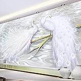 Rivestimento murale europeo senza cuciture europeo della decorazione della parete del film del pavone del sofà del pavone della carta da par Carta Da Parati moderna 3D Fotomurali spiaggia-250cm×170cm