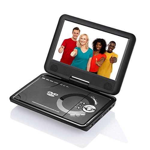 9.8' SOYAR Tragbarer DVD Player mit 270 °Drehbarem Display Unterstützt USB SD,Spiele-Joystick,AV IN/OUT
