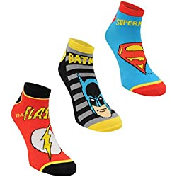 6 pares / 3 pares de calcetines con diseños de superhéroes de Marvel, Spiderman, Hulk, Capitán América, Iron Man DC Comics Ankle Socks 3 Pairs 17-23 Junior