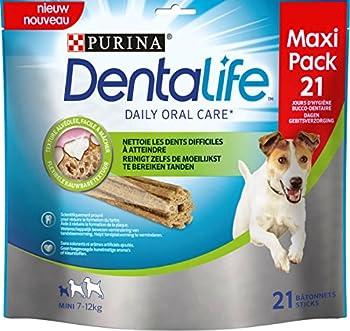 DENTALIFE Purina Mini Maxi Pack Hygiène Bucco-Dentaire au Quotidien 21 Bâtonnets à Mâcher pour Chien de Petite Taille 4 Pièces 345 g