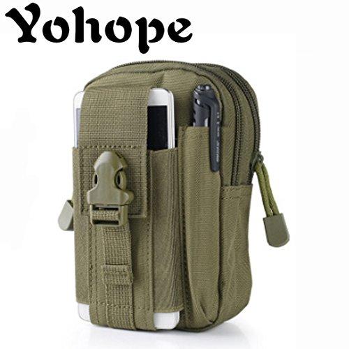 yohope Outdoor Sports MOLLE EDC Camping Wandern Waistpacks Universal Mehrzweck Kapazität Carry Zubehör-Kit Tasche Gürtelschlaufen Taille Tasche Oliver green