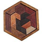 Jixing Holzpuzzle Hexagonal Geometric Sorting Brett Sorter Baustein-Spielzeug Geburtstag Weihnachten Geschenke für Kinder