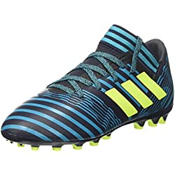 adidas Nemeziz 17.3 AG J, Botas de fútbol Unisex niños, Azul (Tinley/Amasol/Azuene), 38 EU