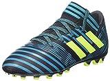 adidas Nemeziz 17.3 AG J, Botas de fútbol Unisex niños, Azul (Tinley/Amasol/Azuene), 37 1/3 EU
