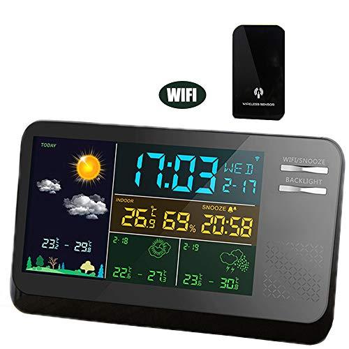 VANLAMP WiFi Estación Meteorológica con Sensor Inalámbrico para Exteriores, App para Smartphone Inteligentes...