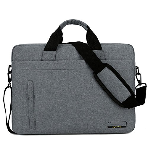 PANGOIE, Laptoptasche Notebook Computer Laptop Schulter Messenger Handtasche Business Aktentasche Lenovo Apple Laptoptasche,Gray-14Inch (Hp 13-zoll-tablet-fall)