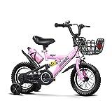 FINLR-Kinderfahrräder Mountainbike Kinder-Pedal-Fahrrad Kinderfahrräder 14.12.16.18.20 Zoll Mit Stabilisatoren Wasserflasche Und Halter 3 Farben (Color : Pink, Size : 20 inches)