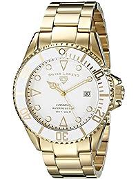 Swiss Legend 21344-YG-22 45 mm oro de tono de la luminosidad de la pulsera de acero y con el reloj de los hombres de Zafiro Sintético