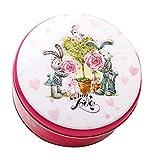 Koala Superstore 2 Pack Hochzeitstorte Kekse Runde Süßigkeiten Geschenk Tin Boxes, graue Kaninchen