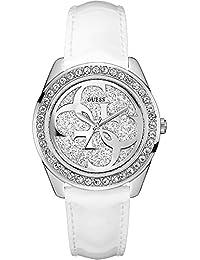 Guess Unisex Erwachsene Armbanduhr Datum klassisch Quarz Leder W0627L4