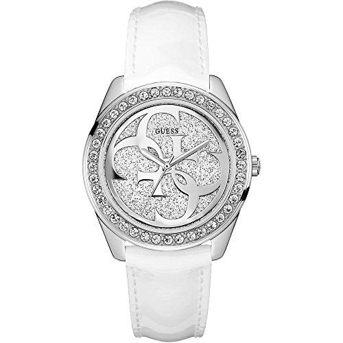 Guess Damen Analog Quarz Uhr mit Leder Armband W0627L4