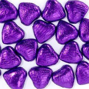 Feuille malva chocolat coeurs (paquet de 20)