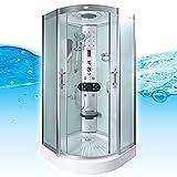 AcquaVapore DTP8046-2012 Dusche Dampfdusche Duschtempel Duschkabine 100x100, EasyClean Versiegelung der Scheiben:2K Scheiben Versiegelung +89.-EUR
