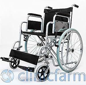 Clinic Farm Chaise roulante pliable pour personnes handicapées et âgées - tailles: 41cm_43cm_46cm_51cm
