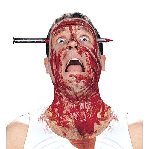 NET TOYS Haarreif Halloween Nagel durch Kopf Scherzartikel Gruselartikel Horrorartikel Haarreifen Horror Kostüm Zubehör (Halloween Für Nägel Nette)