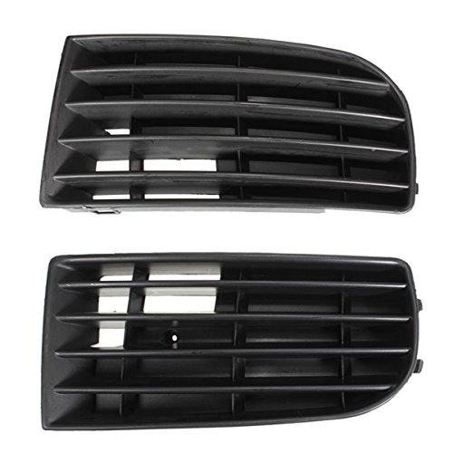 Grille - SODIAL(R)1 paire face avant pare-chocs inferieur Grille Corne pour Volkswagen VW Golf Mk5 2003-2009