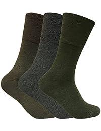 Sock Snob 3 pares hombre invierno sin elasticos calcetines diabeticos para circulacion en 2 colores