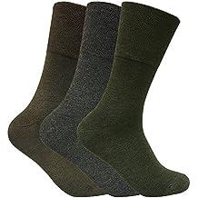 3 pares hombre invierno sin elasticos calcetines diabeticos para circulacion en 2 colores