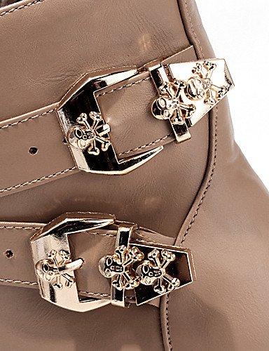 ShangYi Mode Frauen Schuhe Damenschuhe Heels / Plattform / Fashion Stiefel Outdoor / Büro & Karriere / Casual Ferse &124 Gelb