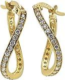 Celesta Gold Damen Creolen 9 Karat 375 Gelbgold Zirkonia weiß Brillantschliff 324310262-2