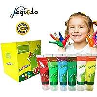Kids Finger Paints de Magicdo - Set de pintura lavable y no tóxico para niños de 6 colores, pintura a base de agua y respetuosa del medio ambiente para niños DIY, pintura artesanal (juego de 6)
