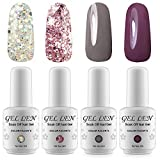 Gellen Brand Gel Nail Polish 4PCS Kits Soak Off UV LED Colour Varnish Manicure Nail Salon Set 8ml #1