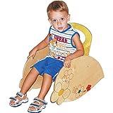 DIDA Kinder-Schaukelstuhl aus Holz - Dekoration: Blumen - Sitzhöhe 21 cm Gesamthöhe 44 cm Base 53 cm x 32 cm