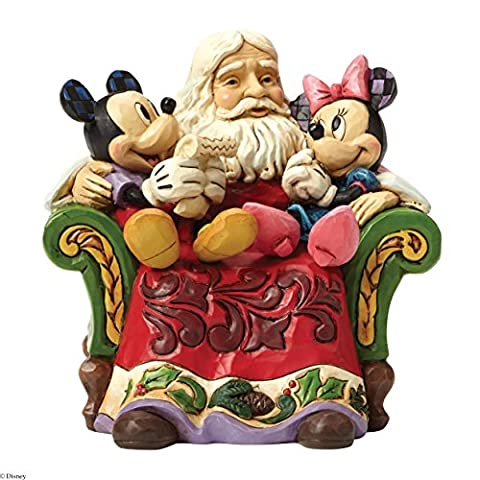 Disney Traditions Santa with Mickey and Minnie Figurine - Enesco Natale