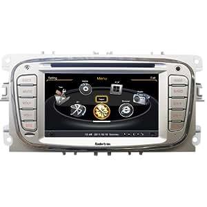 koolertron-Autoradio GPS DVD pour FORD Mondeo S-Max, C-MAX, et Focus BT Plug Navigation Radio Beaucoup de fonctionnement