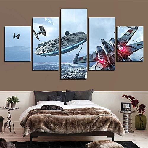 rucke Bilder Home Decor Movie Paintings 5 StückPoster Wohnzimmer Wand Kunst Rahmen, 12X16 / 24/32 Zoll, Ohne Rahmen ()