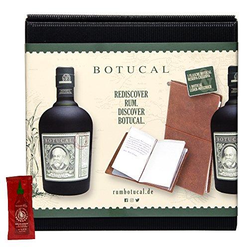 Botucal Reserva Exclusiva 700ml + hochwertiges Leder-Notizbuch + 8 ml Chili Sauce - Geschenk-Set