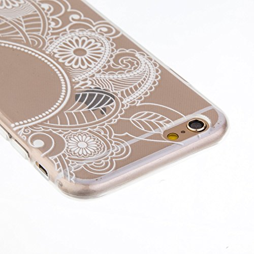 iPhone 5C Hülle, iPhone 5C Silikon Schutz Handy Hülle Kratzfeste Tasche Handyhülle TPU Gel Case Weiches Bumper Schutzhülle, SainCat Silikon Crystal Clear Case Durchsichtig Malerei Schwarz Muster Trans Frau eingewickelt Schal