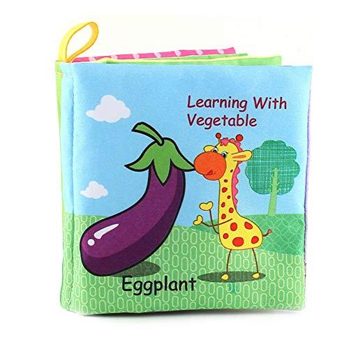 isch Cartoon Tier Tuch Buch frühen Lernspiele Spielzeug Weihnachten Geburtstagsgeschenke für Kinder Kinder ()