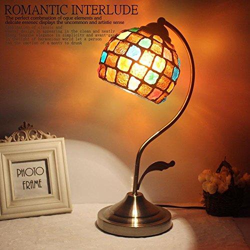 Dorf Retro Glas Schreibtischlampe Verstellbares Licht Dekorative Tischlampe für Schlafzimmer Badezimmer Baby Zimmer , Color