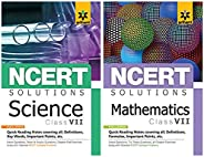NCERT Solutions for Science / Maths class 7 (Set of 2 books)