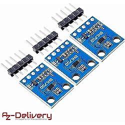 AZDelivery ⭐⭐⭐⭐⭐ 3 x GY-302 BH170 sensor de luminosidad para Arduino y Raspberry Pi