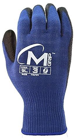 Apollo Performance Arbeitshandschuhe, Wunder Grip Winter Multitask Handschuh mit neverslip Technologie Palm, 15Gauge Nylon-Knit, Thermolite 13Gauge Isolierte Mikrofaser Liner, Touchscreen, Fähigkeiten mit Lightning Touch Technologie, 1Paar, blau/schwarz, S, blau / schwarz, 1