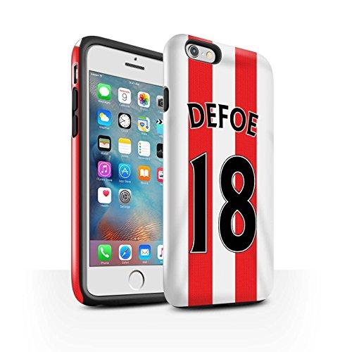 Offiziell Sunderland AFC Hülle / Glanz Harten Stoßfest Case für Apple iPhone 6S+/Plus / Pack 24pcs Muster / SAFC Trikot Home 15/16 Kollektion Defoe