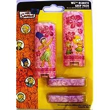 Marge Simpson Hawaiian Hula Pink Wii Remote Grip Pack