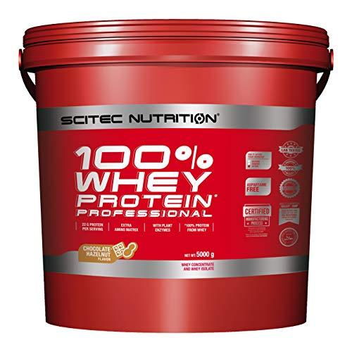 Scitec Nutrition Protein 100% Whey Protein Professional, Schokolade-Haselnuss, 5000g