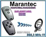Marantec D302, Marantec D304?868,3MHz compatible emisor manual, Repuestos, klone. Top Calidad Clone Remote Control.
