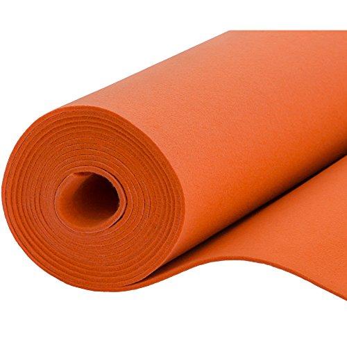 Filz, Filzstoff, Dekorationsfilz, imprägniert, Breite 100 cm, Dicke 4 mm, Meterware 0,5 lfm - orange
